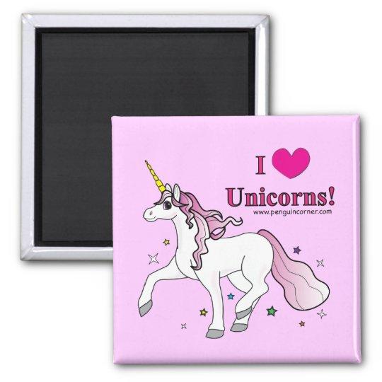 I Love Unicorns! Magnet