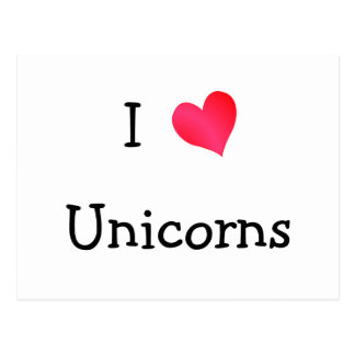 I Love Unicorns Postcard