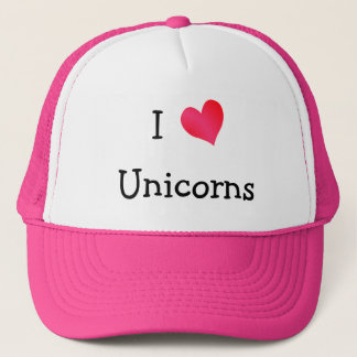 I Love Unicorns Trucker Hat