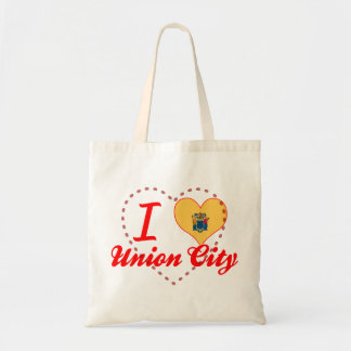 I Love Union City, New Jersey Canvas Bags
