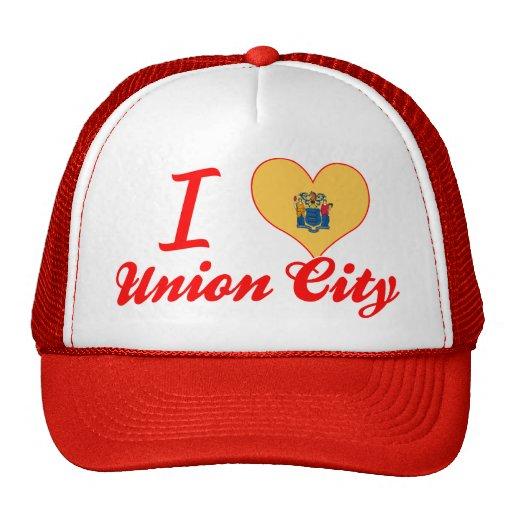 I Love Union City, New Jersey Mesh Hats