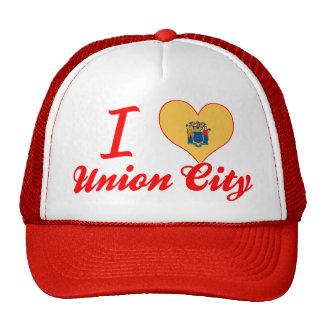 I Love Union City New Jersey Mesh Hats