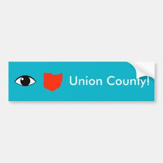 I Love Union County Bumper Sticker