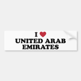 I Love united arab emirates Bumper Sticker