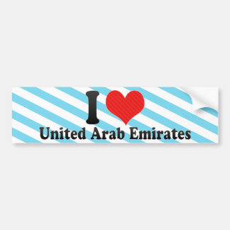 I Love United Arab Emirates Bumper Sticker