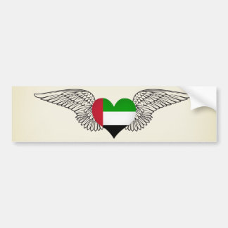 I Love United Arab Emirates -wings Car Bumper Sticker
