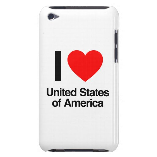 i love united states of america barely there iPod cover
