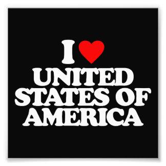 I LOVE UNITED STATES OF AMERICA PHOTO PRINT