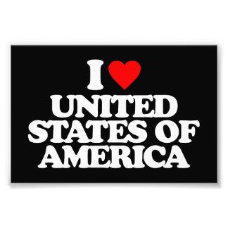 I LOVE UNITED STATES OF AMERICA PHOTO