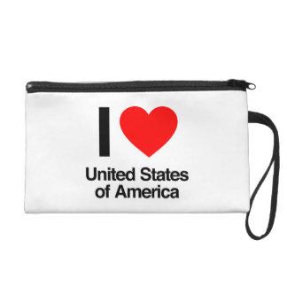 i love united states of america wristlet purse