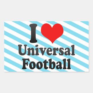 I love Universal Football Rectangle Sticker