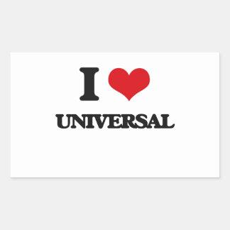 I love Universal Rectangular Sticker