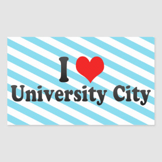 I Love University City, United States Rectangle Sticker