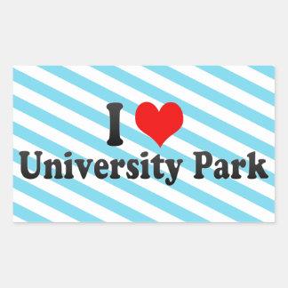 I Love University Park, United States Rectangle Sticker