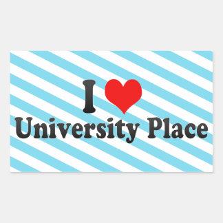 I Love University Place, United States Sticker