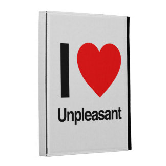 i love unpleasant iPad folio cover