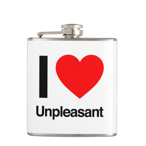 i love unpleasant hip flasks