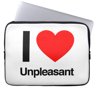 i love unpleasant laptop computer sleeve