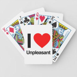 i love unpleasant poker cards