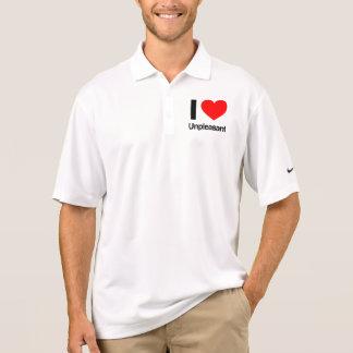 i love unpleasant polo t-shirts