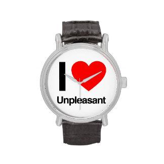 i love unpleasant wristwatch