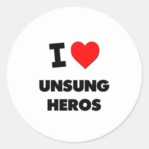 I love Unsung Heros Stickers