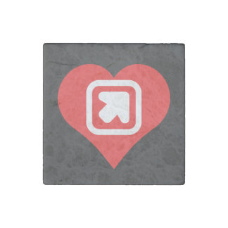 I Love Up Arrows Cool Icon Stone Magnet