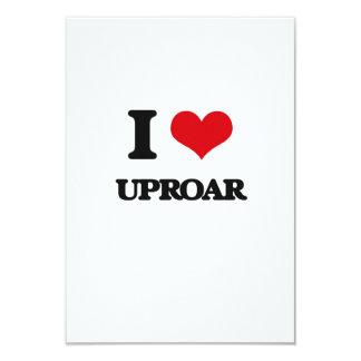 I love Uproar 9 Cm X 13 Cm Invitation Card
