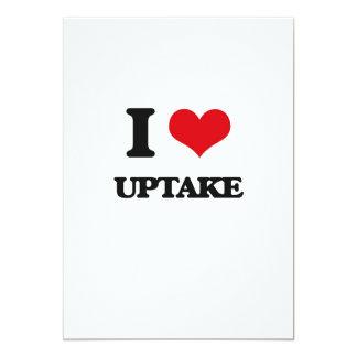 I love Uptake 13 Cm X 18 Cm Invitation Card