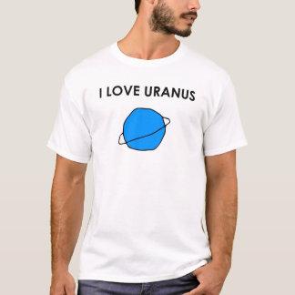 I LOVE URANUS Heart Space Planets Astronomer Stars T-Shirt
