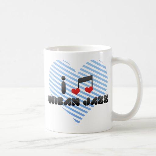 I Love Urban Jazz Mugs