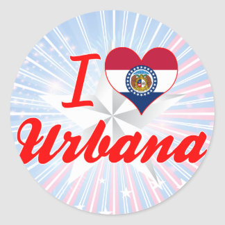 I Love Urbana, Missouri Round Stickers