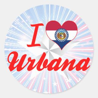 I Love Urbana, Missouri Sticker