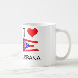 I Love Urbana Ohio Basic White Mug