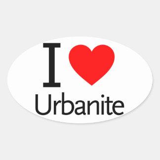 I Love Urbanite Oval Sticker