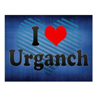 I Love Urganch, Uzbekistan Postcard