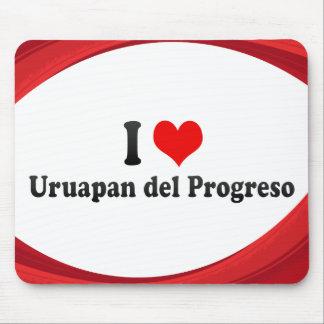 I Love Uruapan del Progreso, Mexico Mouse Pad