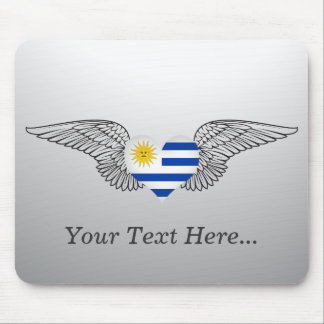 I Love Uruguay -wings Mousepad