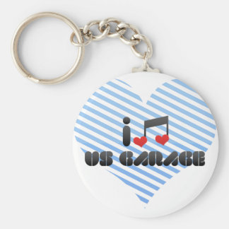 I Love Us Garage Basic Round Button Key Ring