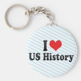 I Love US History Keychains