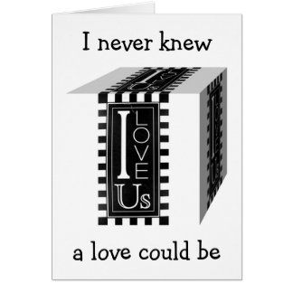 I LOVE US/I NEVER KNEW A LOVE COULD BE SO AWESOME CARD