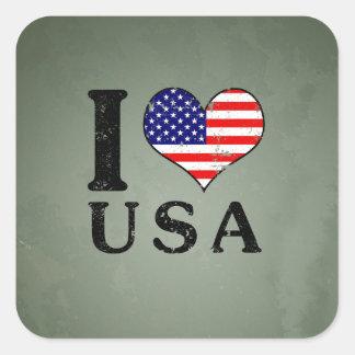 I LOVE USA - America Flag Stickers