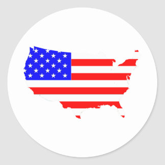 I love USA Country Products! Round Sticker