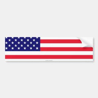 I Love USA Flag bumper sticker