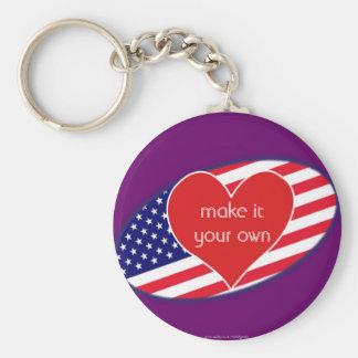 I Love USA flag Key Chains