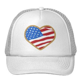 I Love USA Heart Trucker Hat