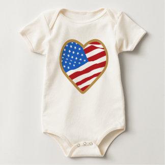 I Love USA Infant Creeper