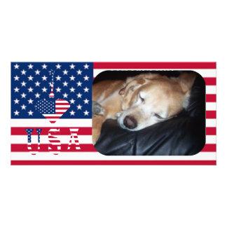 I LOVE USA PHOTO CARD TEMPLATE