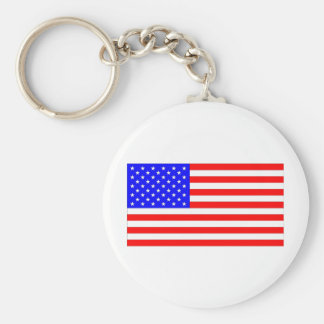 I Love USA Products & Designs! Basic Round Button Key Ring