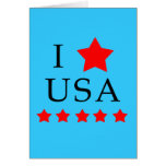 I Love USA Products Greeting Cards